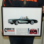 1960 CORVETTE -WALL ART - (GMWALL 05)