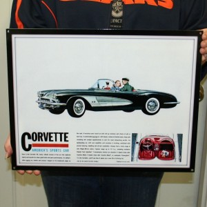 1960 CORVETTE -WALL ART – (GMWALL 05)