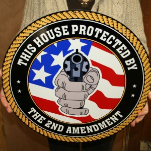 2nd AMENDMENT CIRCLE SIGN THIS HOUSE PROTECTED