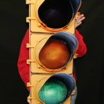 35 x 14 - 14 Gauge Flat Stop Light Sign