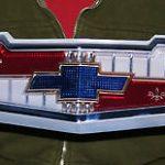 CHEVROLET BEL AIR V8 Hood Emblem 18x5 - Metal Sign