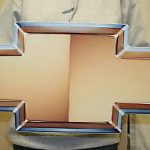 CHEVROLET CAMARO BOWTIE 32x12 GMBOW- NEW STEEL Sign