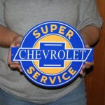 CHEVROLET CAMARO Chevy Super Service 12x10 - Metal Sign