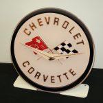 CHEVROLET CORVETTE 1958 EMBLEM FREE STANDING Metal Sign COR2