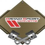 CHEVROLET CORVETTE GRAND SPORT-BRONZE CARBON FIBER SIGN BRGRAND