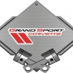 CHEVROLET CORVETTE GRAND SPORT SILVER CARBON FIBER SIGN SLGRAND