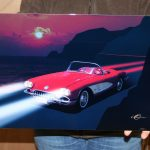 CHEVROLET SIGN CORVETTE 58 WALL ART BY GARY O MARTIN(GOM58VETTE)