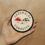 CHEVROLET STEEL SIGN Corvette COR2 4x4- Magnet