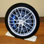 CORVETTE CHEVROLET ZR1 TIRE - FREE STANDING Metal Sign STAND006