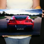 Chevrolet Corvette 2014 C7 - RED REAR CORVETTE METAL SIGN
