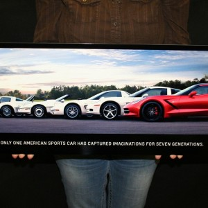 Chevrolet Corvette Metal Sign C7 2014 GENERATIONS POSTER 35×12