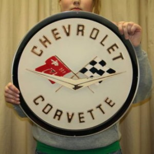 Chevrolet Corvette Metal Sign COR2 19×19