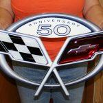 Chevrolet Corvette Metal Sign COR50TH - C5