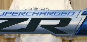 Chevrolet Corvette Metal Sign CORZR1 34×8