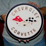 Corvette COR2 12x12- Metal Sign