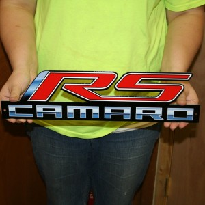 RS Camaro Metal Sign 18×5 -CAM17