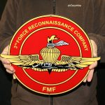 USMC 3RD RECON COMPANY FMF STEEL SIGN