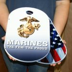 USMC DOG TAGS WITH ENLISTED EGA - STEEL SIGN