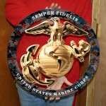 USMC EGA ENLISTED METAL SIGN SEMPER FI 19x19