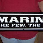 USMC ENLISTED EGA EMBLEM MARINE STREET SIGN 30x6