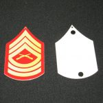 USMC ENLISTED RANK METAL SIGN MAGNET E-8 MASTER SGT