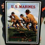 USMC STEEL WALL ART 18x14- MCWALL 08