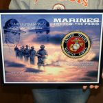 USMC STEEL WALL ART 18x14- MCWALL 13