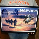 USMC STEEL WALL ART FORCE 18x14 MCWALL 12