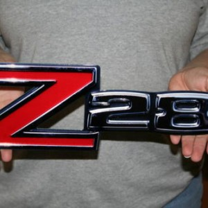 Z28 Front Fender Emblem Metal Sign- 14×5