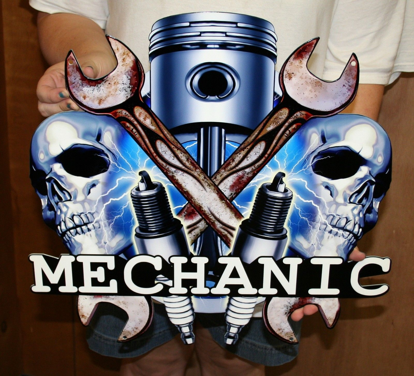 Man Cave Signs Ontario : Mechanic mancave sign custom steel signs and gifts