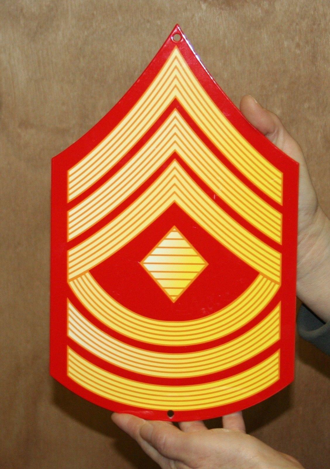 usmc enlisted rank metal sign e